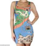 ドット絵ファッション、キテるかも!?「マリオワールド」マップ柄ドレスが超クール!