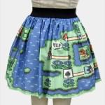 ゲーマー女子に着てほしい!マリオ&ゼルダの伝説マップ柄ドット絵スカート