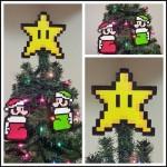 クリスマスツリーをゲームキャラで飾ろう!ドット絵アイロンビーズのオーナメントが超カワイイ!