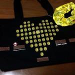 ハート型のコインがカワイイ!女の子向けドット絵マリオのミニトートバッグは、シュシュもついててちょっぴりお得?
