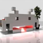 斬新なフォルムでお部屋を侵略!「インベーダー」そのまんまデザインのソファ