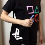 今日のゲームTシャツ:三角マルバツ四角…「プレステのボタン」Tシャツ