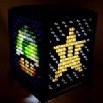 ぼんやり光るキノコやファイアフラワーがキレイ!透明のレゴパーツで作られた、マリオアイテムのランプ