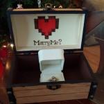 「独りでは危険だ、結婚しよう…」ゼルダの伝説モチーフの宝箱の中には、婚約指輪が!?