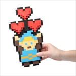 バレンタインに贈りたい!あのレジェンドなヒーローっぽいデザインがカワイイ、ドット絵ハートの立体ブーケ