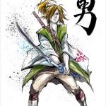 「サムライ」風リンクがカッコいい!海外のアーティストによって、ゲームキャラたちが和風に描かれたイラストいろいろ