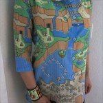 この布いいなあ…「スーパーマリオワールド」ドット絵マップが一面に広がる、ハンドメイドなおしゃれシャツ