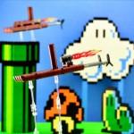背景も超キュート!レゴで作られたマリオ3の小型飛行船
