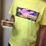 今日のゲームTシャツ:「スペランカー」ファミカセ柄Tシャツ