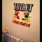 ルイージもいるよ!「トイレ中」なドット絵マリオを、アイロンビーズで完全再現!