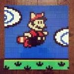 作ってみたい!ファミコンゲームのワンシーンを切り取ったみたいなドット絵レゴ絵画