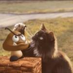 フシギなものがいっぱいニャ?「スーパーマリオ」の世界に迷い込んだ無邪気なネコ動画