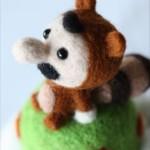 まんまるでフワッフワ…羊毛フェルトで作られた「タヌキマリオ」が可愛すぎ!