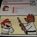 マリオは、こっそり剣道を習っていた!?イラストつきクイズカードで知る「マリオ」の真実とは…!?