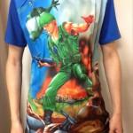 今日のゲームTシャツ:超お買い得価格!カプコンアーケードキャビネット レトロゲームコレクション× galaxxxyコラボ「戦場の狼」Tシャツ