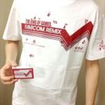 今日のゲームTシャツ:ドット絵ファミコンキャラいっぱい!THE KING OF GAMES「ファミコンリミックス」ラインTシャツ