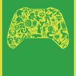コントローラーの中のシルエット!シンプルおしゃれなゲームデザイン・ポスター