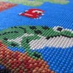 美しいドット絵…!ゲーム中のワンシーンが「クロスステッチ」の刺繍で再現された作品集
