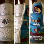 シンプルなウエディングケーキ、と思ったら…!?サプライズな「マリオ」ケーキ