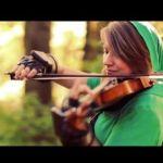 美しいバイオリンの音色がたまらない!リンクのコスプレ美女によって演奏される「コキリの森」BGM