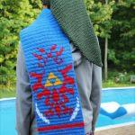 身にまとえばリンク気分!「ハイラルの紋章」デザインの手編みマフラーがおしゃれ