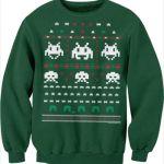 今度はインベーダー!ドット絵パロディクリスマスセーター風・デザインスウェットシャツがまたまたステキ