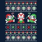 マリオにゼルダ、ソニックにディダグまで!レトロゲームのドット絵パロディ・クリスマスセーター風デザインTシャツがやっぱりおしゃれ!