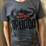 今日のゲームTシャツ:ドラゴンのシルエットがカッコいい!「ドルアーガの塔」Tシャツ