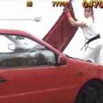 リアルで車を超破壊!?「ストリートファイター2」のボーナスステージ再現動画