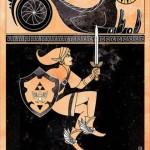 実にそれっぽい…エジプト時代の壁画風に描かれたゲームキャラのパロディ・イラストがステキ