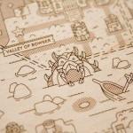 緻密で美しい…!木の板に刻み込まれた「マリオ」や「ゼルダの伝説」の世界のマップがステキ