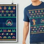 ドンキーコングなクリスマスツリー!?レトロゲームのクリスマスセーター風ドット絵パロディTシャツが可愛すぎる!