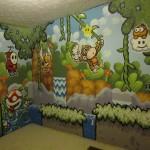まるで「ヨッシーアイランド」の世界に迷い込んだみたい!?壁いっぱいイラストまみれなお部屋がステキ