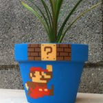 これ作ってみたい!植木鉢にマリオとハテナブロックのイラストを描くと…?