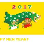 ドット絵獅子舞クッパかわいい!「ウェブキャラ年賀」の『マリオ』と『パックマン』新デザインが公開に!