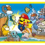 ポケモンたちが、ファミコン版マリオのイラストを再現!?ポケモンセンターに「マリオピカチュウ」グッズが新登場!