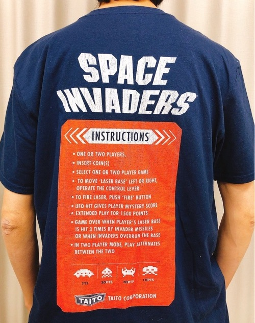 CABINET (スペースインベーダー) Tシャツ SPACE INVADERS